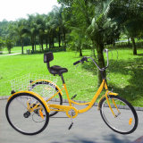 "24 "" 3 Rad Adult Tricycle Bicycle Trike mit Basket"