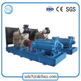 Pompe centrifuge entraînée par moteur diesel d'irrigation de grande capacité à plusieurs étages