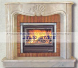 European Style Natural Marble & Limestone Fireplace