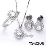 White CZ를 가진 우아한 925 Sterling Silver Jewellery Set