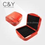 Rote Farben-hölzerne Münzkassette für das Verpacken