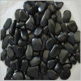 Черный камень камушка реки цвета