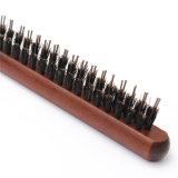 Гребень деревянного инструмента Hairdressing щетки волос щетинки хряка ручки пушистый