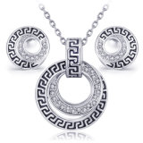 Reeks van de Halsband van het Kristal van Oostenrijk en Retro van de Juwelen van de In het groot Vrouwen van Oorringen