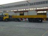 Flatbed Semi Aanhangwagen van de Container met Zijgevel
