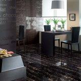 Zwart en Gouden Marmeren Effect 180 X 90 de Cm Opgepoetste Tegel van het Porselein voor Binnenlands, Buitenkant voor Project, de Tegel van de Vloer