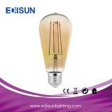 에너지 절약 빛 St64 7W LED 필라멘트 전구