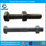 Steel/Carbon Steel Hex Bolts & Nuts Zinc Plated Hot Galvanized Hex Nut e Bolt inoxidáveis (DIN933 AND DIN934)