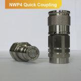 ISO 16028 유압 빠른 연결 편평한 마스크 연결기 Male+Female 부속 Nwp4 시리즈 (스테인리스)