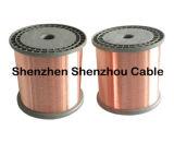 Fio de cobre revestido de alumínio CCA do fio de alumínio revestido de cobre