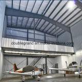 Hangar ligero de los aviones de la estructura de acero