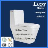 Suelo - tocador de cerámica de una sola pieza montado en mercancías sanitarias del cuarto de baño
