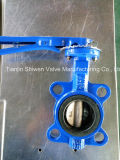 Ductile Iron EPDM Seat Wafer Butterfly Valve with Aluminum Handle