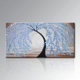 Pintura al óleo hecha a mano de Modern Abstract Palette Knife en Large Canvas Tree Art