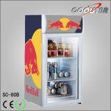 Escaparate superior del refrigerador de la visualización de vector pequeño (SC80B)
