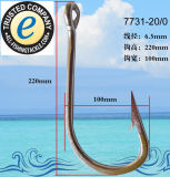 Angler-hochwertiger Edelstahl-starker Antirost-Fischerei-Extrahaken 7731-11/0