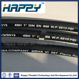 Manguito hidráulico de goma suave certificado de SAE100r12 4sp/4sh