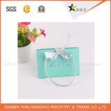 Sacs bleus de cadeau de papier de qualité de vente en gros de couleur