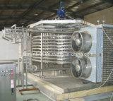 Máquina de congelação rápida rápida espiral do congelador IQF para o marisco do grânulo