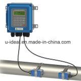 Non le contact/portatif/a traité/compteur ultrasonique Mur-Monte/débit de l'eau