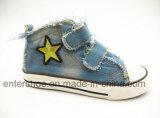 Chaussures occasionnelles de Velcro de garçons avec la semelle en caoutchouc (ET-LD160154K)
