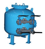 Filtre de sable industriel de déviation de contrôle de manuel d'eau en circulation