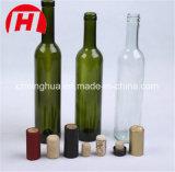 bottiglia di vino di vetro trasparente 375ml/ambrata verde del ghiaccio