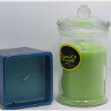 Wholessle Clear Custom Scented Glass Jars Velas no frasco de vidro