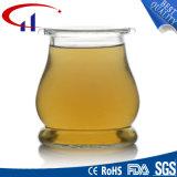 récipient d'entreposage blanc superbe du verre à chaux sodée 320ml (CHJ8115)
