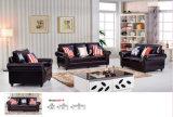 アメリカのソファー、組合せのソファー、1+2+3革ソファーの家具(8001)