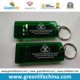 주문을 받아서 만들어진 녹색 편평한 경계시키는 호각 백색 로고에 의하여 인쇄되는 W/Key 반지