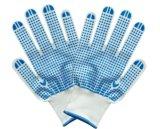Одна сторона связала поставленные точки PVC работая перчатки хлопка
