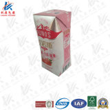 Carton aseptique de PRISMA pour le lait