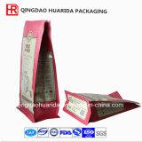 Sac zip-lock en plastique inférieur carré pour le quinoa d'emballage