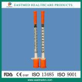 Insulin-Spritze mit der Nadel, Wegwerf