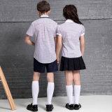 Конструкция форм начальной школы рубашек девушок мальчиков Unisex оптовой продажи школьной формы детей изготовленный на заказ