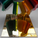 Пластичный серебр PMMA и золотистый акриловый лист зеркала