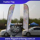 Im Freienfliegen in Wind-kundenspezifisches Firmenzeichen gedruckten Markierungsfahnen-Fahnen