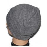 Chapéu cinzento feito sob encomenda do Beanie do velo do tampão do inverno para homens