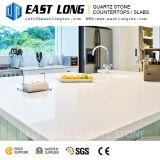 台所カウンタートップのための熱い販売の粉体の白い磨かれた水晶石の表面