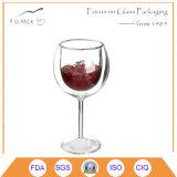 Taza del vidrio de vino del vástago del cortocircuito del cubilete de Drinkingware