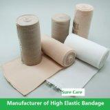 Bandage élastique coton blanc de couleur de peau de haut (blanchi)