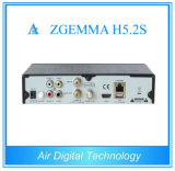 Novo H. 265 Hevc Satellite Receiver Zgemma H5.2s com Twin DVB-S2 Tuners Digital Satellite Receiver