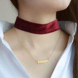De dunne Tegenhangers van de Halsbanden van de Ketting Geometrische met Halsbanden van de Nauwsluitende halsketting van het Fluweel Multilayer