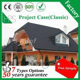 Tipo clássico telha de telhado moderna colorida do metal da folha de alumínio da telhadura