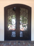 Custom New Iron Grill Window Projetos de porta de entrada dupla