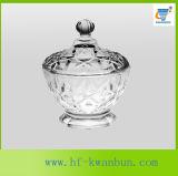 Utensilios de cocina de cristal claros Kb-Hn0366 del tazón de fuente del bocado del tazón de fuente del caramelo
