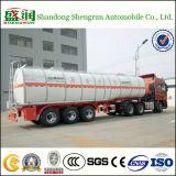 Dello Shandong Shengrun del acciaio al carbonio 3 dell'asse dell'autocisterna rimorchio liquido del camion semi con il mezzo di riscaldamento