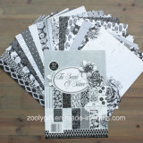 Black White Scrapbook Paper Supplier A5 Design Paper Pack