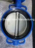Type malléable de disque du fer CF8 vanne papillon avec le levier